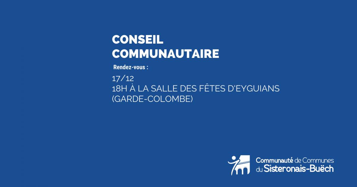 Conseil communautaire -17 décembre 2019