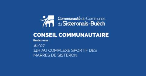 Conseil communautaire le 16 juillet 2020 à 14h